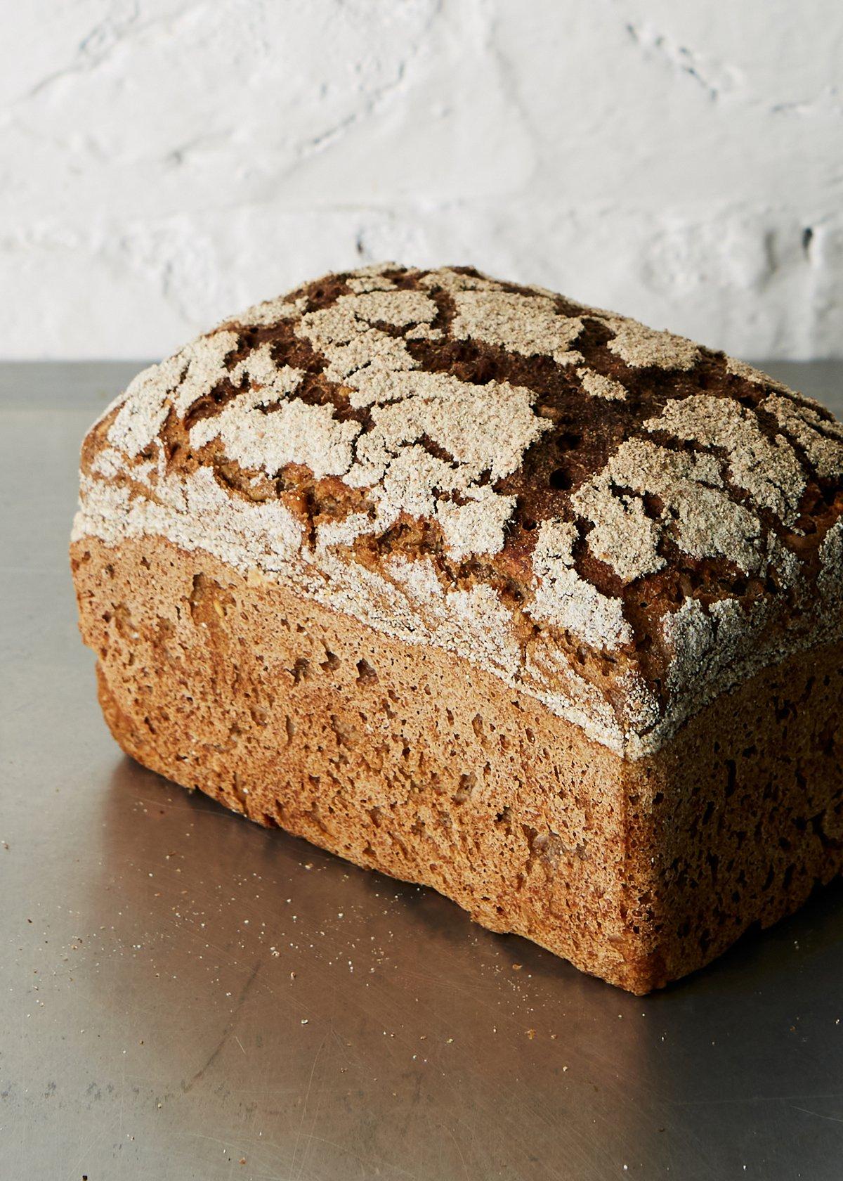 Rye tin loaf